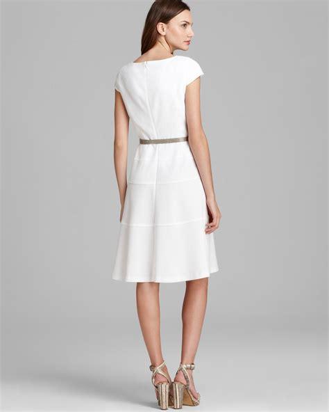 lyst anne klein swing dress cap sleeve  white