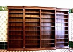 Bücherwand Mit Leiter : regalwand im gr nderzeitstil massivholz 270x400x35cm ebay ~ Indierocktalk.com Haus und Dekorationen