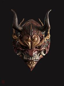 ArtStation - mask, Shao zhijiao in 2019 | Japanese mask ...