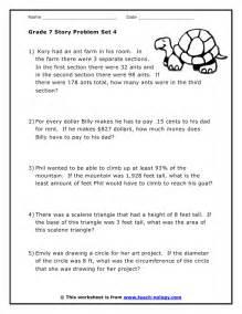 free printable math word problems grade 7 word problems set 4