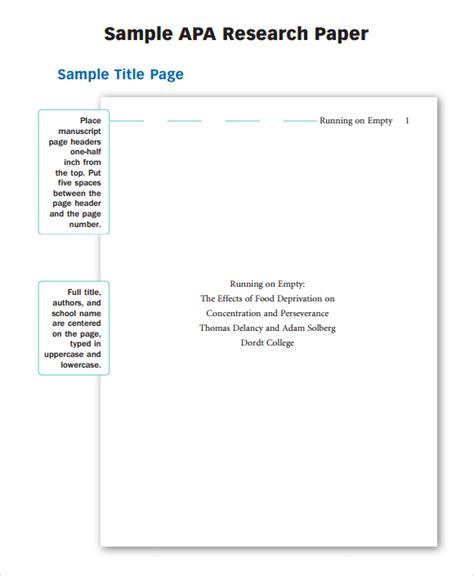 Apa Research Paper Template Word 2010 by Best Photos Of Apa Research Paper Outline College