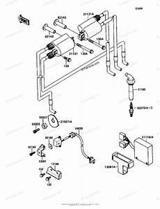 Kawasaki Motorcycle 1991 Oem Parts Diagram For Ignition