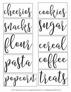 Free Printable Pantry Labels - Gather and Flourish