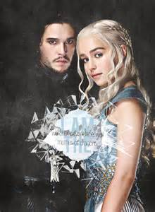 Game of Thrones Jon Snow and Daenerys
