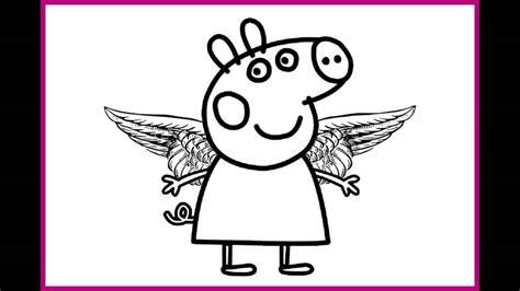 dibujos de peppa pig  colorear youtube