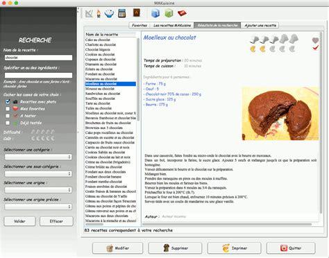 logiciel recette cuisine makuisine accueil