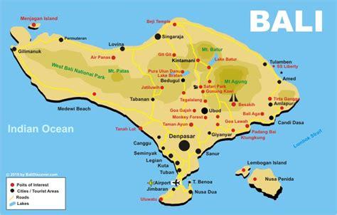 bali map bali discover