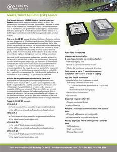 Sensys Networks Mag2 Mag2  Gr Sensor User Manual Vsn240 F