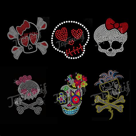heat press transfer designs fashion heat transfer design colorful skull iron on