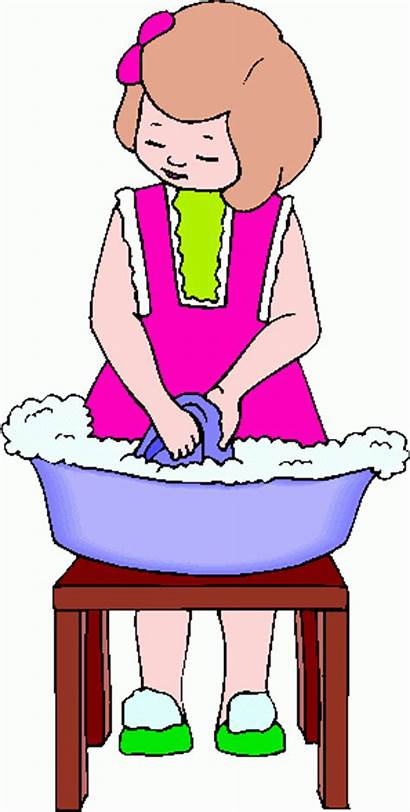 Washing Clipart Cloth Dishes Clip Clothes Wash