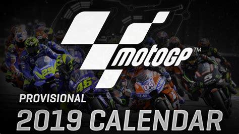 provisional  motogp calendar released honda ireland