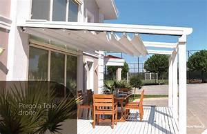 pergola en toile enroulable et retractable pour terrasse With leroy merlin bache piscine 4 tonnelle pergola toiture de terrasse leroy merlin