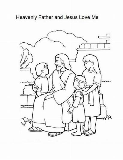 Jesus Coloring Loves Heavenly Father Pages Printable