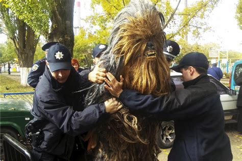 chewbacca arrested  campaigning  darth vader