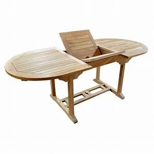 Table De Jardin 8 Places : table en teck ovale 8 personnes espace jardin ~ Teatrodelosmanantiales.com Idées de Décoration