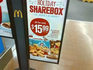 McDonald's Holiday Share Box (20 McNuggets, 2 Medium Fries ...
