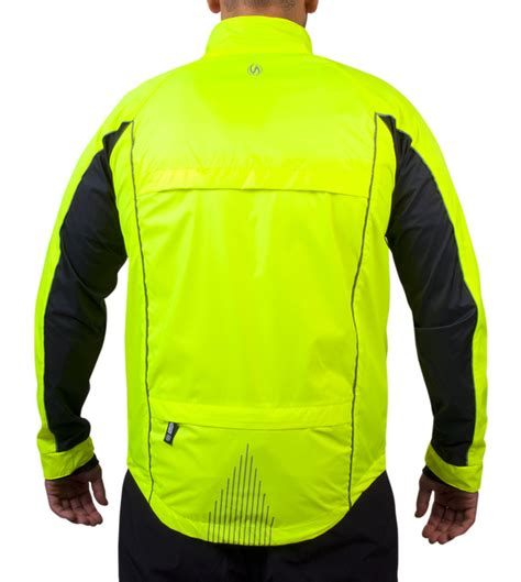 mens cycling windbreaker illuminite reflective windbreaker triathlon jacket aero