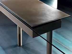 Bureau En Verre Design : bureau en verre et cuir vente en ligne italy dream design ~ Teatrodelosmanantiales.com Idées de Décoration