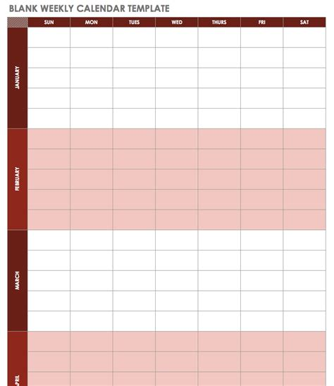 Calendar Template Free Blank Calendar Templates Smartsheet