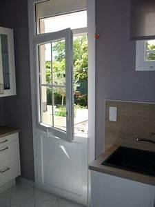 porte fermiere blanc avec imposte fixe vitre partie With porte d entrée pvc avec parquet en bambou salle de bain