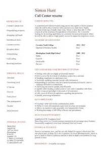 college resume format template call centre cv sle high energy resilience and excellent time management skills cv writing