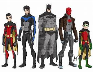 Young Justice-style Tim Drake Red Robin, Dick Grayson ...
