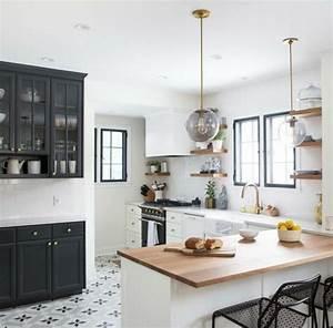 Carreaux De Ciment Noir Et Blanc : 1001 id es pour une cuisine relook e et modernis e ~ Dailycaller-alerts.com Idées de Décoration