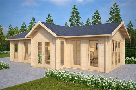 6 X 6 Wood Storage Shed by Large Garden Log Cabin The Hansa Office 40m2 70mm 4 X