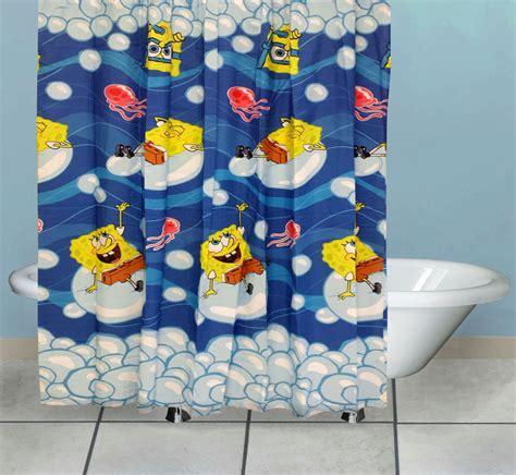 Spongebob Bathroom Decorations Ideas by Spongebob Shower Curtain Bubblin Around Bath Accessories