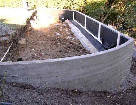 poured concrete retaining wall retaining wall expands space buchheit construction