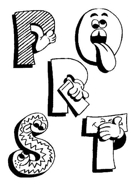 Graffiti Letters Juul Kleurplaat by Grappige Letters Logopedie Alphabet Coloring Pages
