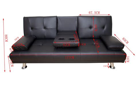 Westwood Faux Leather Manhattan Sofa Bed Recliner 3 Seater