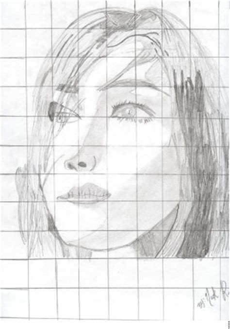 portrait drawing grid system learn   draw drawing