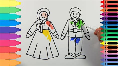 How To Draw South Korea Traditional Dress Hanbok
