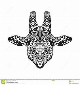 Zentangle Stylized Giraffe. Sketch For Tattoo Or T-shirt ...