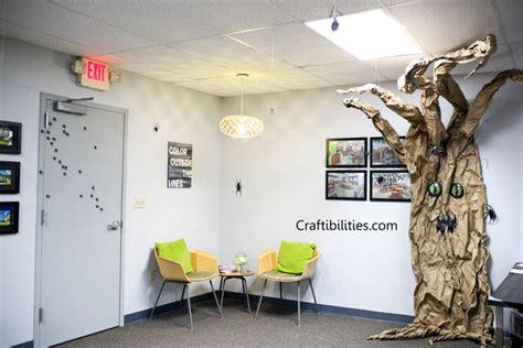 Office Halloween Decoration Ideas  Spooky Tree & Spiders