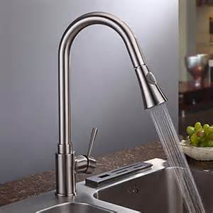 kitchen faucet finishes nickel brushed finish contemporary single handle kitchen faucet faucetsuperdeal