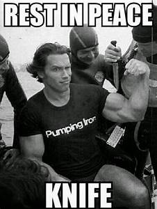 Arnold Killing Knife With Muscles