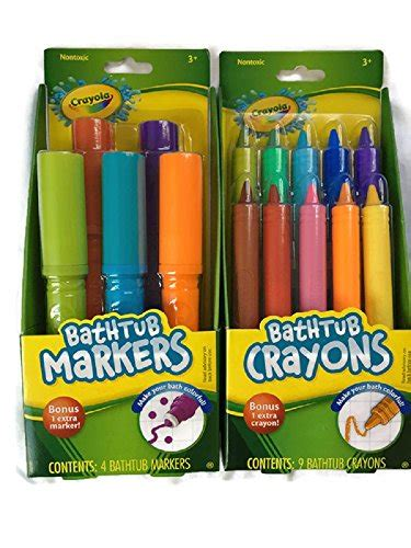 crayola bathtub crayons collection crayola bathtub markers with 1 bonus markers and