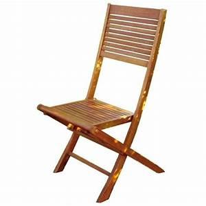 Soldes Chaises De Jardin : 2 chaises de jardin pliantes en bois d eucalyptus achat vente chaise fauteuil jardin 2 ~ Melissatoandfro.com Idées de Décoration