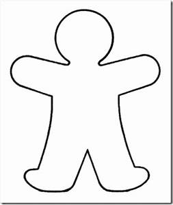 blank person clipart With person template preschool