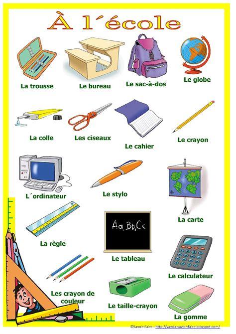 fourniture de bureau en anglais français pour mes élèves materiel scolaire
