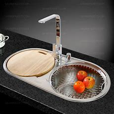 Stainless Steel Double Bowl Round Kitchen Sinks And
