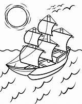 Coloring Mayflower Printable Navio Desenho Template Sail Ship Flower Earth Educamais Sheets Familyfriendlywork Ingrahamrobotics 保存 sketch template
