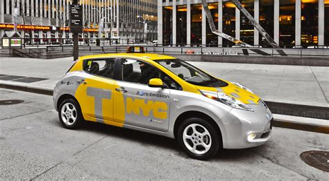 nissan leaf  york taxi pilot launched  caradvice