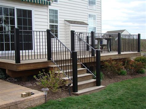 Deck Railing Pictures Stairs by Stair Railing Ideas To Improve Home Design