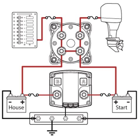 3 Position Marine Battery Switch Wiring Diagram by Blue Sea Systems Add A Battery System With Acr And Switch