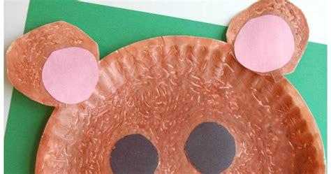 fuzzy brown bear craft      paper  glue
