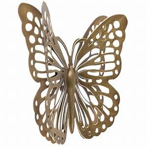 gold metal butterfly wall decor hobby lobby 1134873 With best brand of paint for kitchen cabinets with metal butterflies wall art