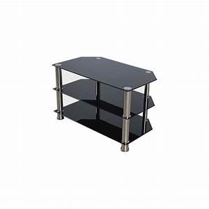 Meuble Tv Metal Noir : meuble tv verre noir next achat vente meuble tv meuble tv verre noir next cdiscount ~ Teatrodelosmanantiales.com Idées de Décoration